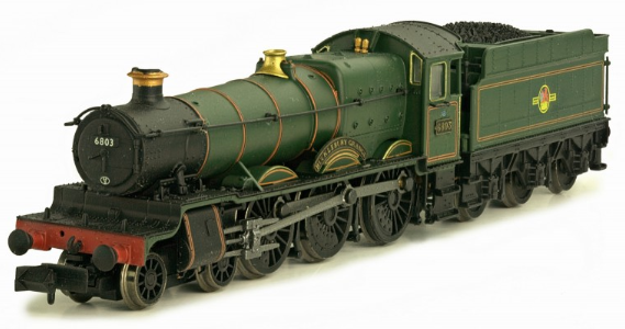 "Dapol 2S-019-006 Class 6800 4-6-0 6803 ""Bucklebury Grange"" BR lined green with late crest"