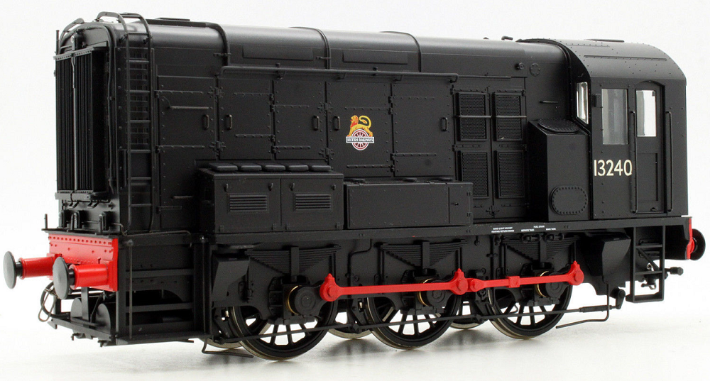 Dapol 7D-008-004 Class 08 0-6-0 diesel shunter 13240 BR black with early crest