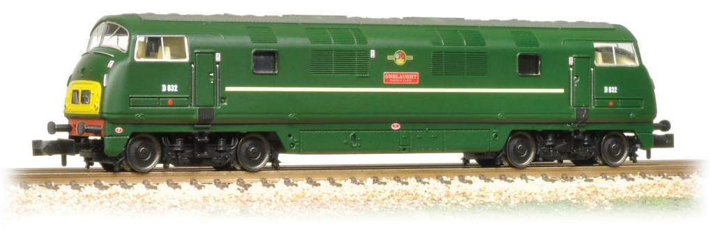 Graham Farish 371-604 Class 42 Warship D832 'Onslaught' BR Green (as preserved)