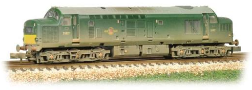 Graham Farish 371-454 Class 37/0 D6827 BR Green (weathered)
