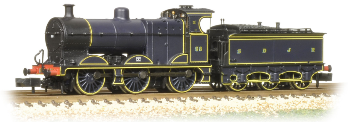 Graham Farish 372-060K Class 4F 0-6-0 58 Johnson tender S&DJR Prussian Blue - Collectors Club