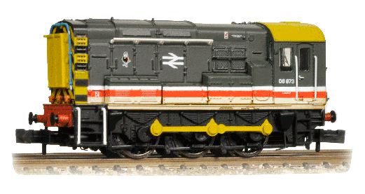Graham Farish 371-015K Class 08 Shunter 08873 Intercity - Collectors Club