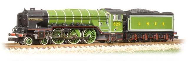 Graham Farish 372-385 Class A2 4-6-2 525 'A.H. Peppercorn' LNER Apple Green