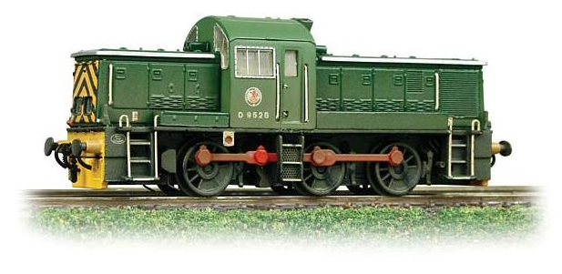 Graham Farish 372-953 Class 14 D9526 BR Green with wasp stripes (weathered)