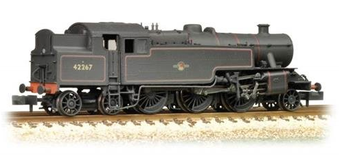Graham Farish 372-753 Fairburn 2-6-4 Tank 42267 BR Lined Black with late crest (weathered)