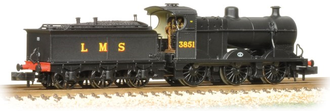 Graham Farish 372-061 Class 4F 0-6-0 3851 Johnson tender LMS Black