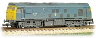 Graham Farish 371-088 Class 25/2 25231 BR Blue (weathered)