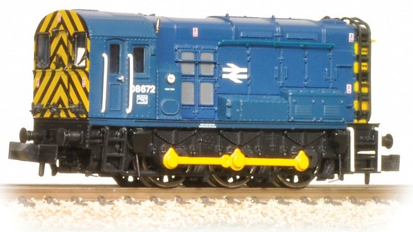 Graham Farish 371-015C Class 08 Shunter 08672 BR Blue with wasp stripes