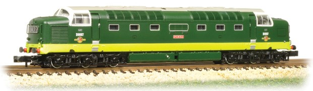 Graham Farish 371-285 Class 55 Deltic D9007 'Pinza' in BR two-tone green