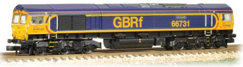 Graham Farish 371-396 Class 66/9 (low emission variant) 66731 'InterhubGB' GBRf