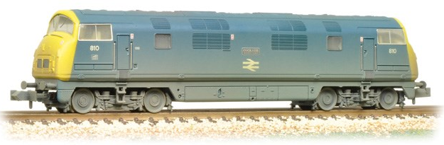 Graham Farish 371-605 Class 42 Warship 810 'Cockade' BR Blue (weathered)