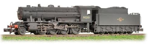 Graham Farish 372-427 WD Austerity Class 2-8-0 90201 BR black with late crest (weathered)
