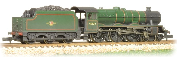 Graham Farish 372-481 Class 6P Jubilee 4-6-0 45572 'Eire' BR lined green with late crest (weathered)