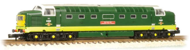 Graham Farish 371-286 Class 55 Deltic D9002 'The King's Own Yorkshire Light Infantry' BR two-tone green with half yellow ends