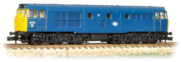 Graham Farish 371-112 Class 31 31173 BR Blue with full yellow ends