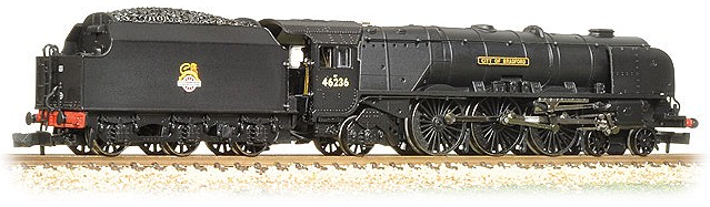 "Graham Farish 372-185 Princess Coronation Class 4-6-2 46236 ""City of Bradford"" BR black with early crest"