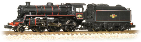 Graham Farish 372-654 Class 4MT Standard 2-6-0 76063 BR lined black with late crest