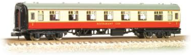 Graham Farish 374-807 Mk1 RFO Restaurant Car BR Crimson & Cream