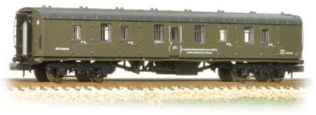 Graham Farish 374-041 Mk1 BG Full Brake Departmental Coach BR Olive Green