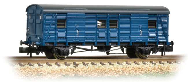 Graham Farish 374-417 ex-Southern CCT Covered Carriage Truck BR Blue