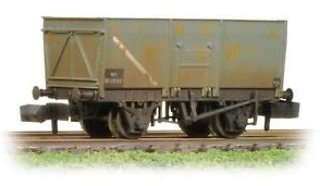 Graham Farish 377-450B 16t Slope Sided Mineral Wagon BR Grey (weathered)