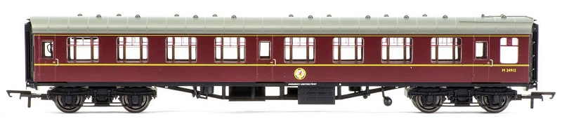 Hornby R4714 Mk1 Corridor 2nd Coach M24912 BR Maroon (with lights)