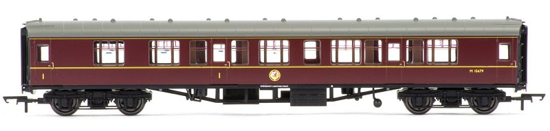 Hornby R4715 Mk1 Corridor Comp Coach M15679 BR Maroon (with lights)