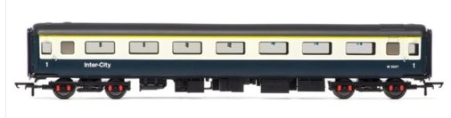 Hornby R4611A Mk2E FO First Open Coach W3247 BR Blue & Grey (with lights)