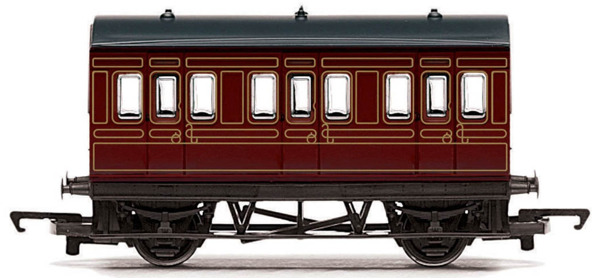 Hornby R4671 Freelance 4 Wheel Coach LMS - Railroad
