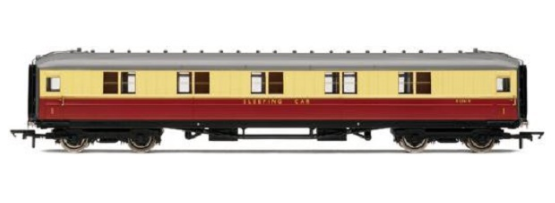 Hornby R4182A Ex-LNER Gresley 61ft Corridor 1st class Sleeper Coach BR Crimson & Cream