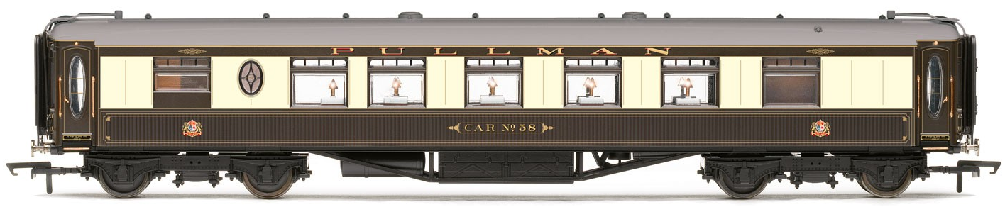 Hornby R4741 Pullman Third Class Kitchen Car 'Car No.58' (with lights)