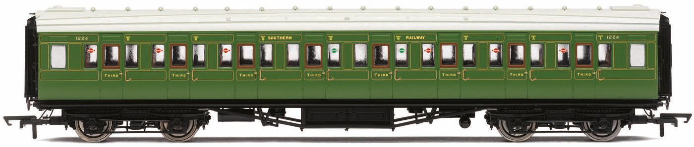 Hornby R4769 Maunsell Corridor Third Class 1224 Southern Olive