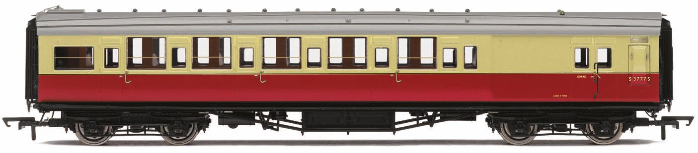 Hornby R4796A Maunsell Corridor Brake Third Class S3794S BR Crimson & Cream