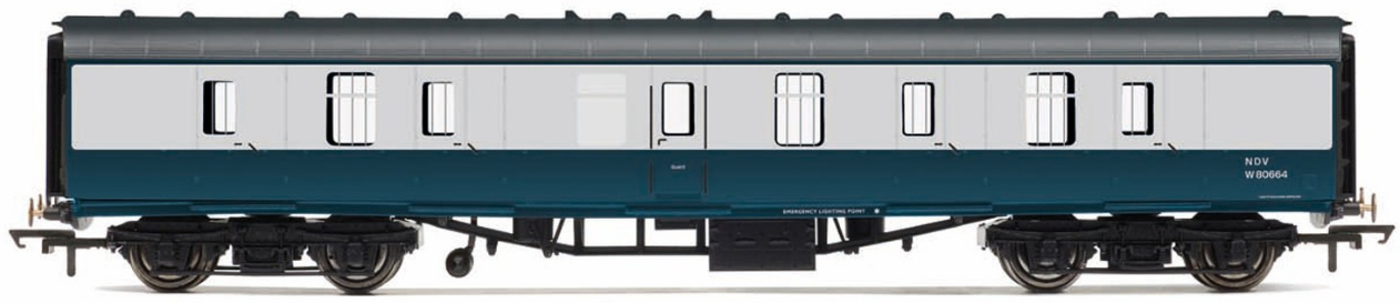 Hornby R4771 Mk1 Parcels Coach W80664 BR Blue & Grey