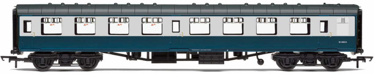 Hornby R4775 Mk1 Second Open Coach W4804 BR Blue & Grey