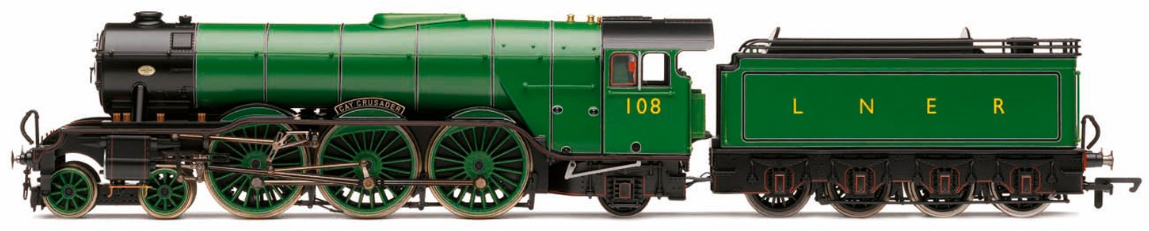 "Hornby R3623 Princess Coronation Class (Streamlined) 4-6-2 6221 ""Queen Elizabeth"" LMS Caledonian Blue"