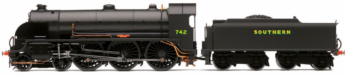 Hornby R3527 N15 King Arthur Class 4-6-0 742 'Camelot' SR Wartime Black