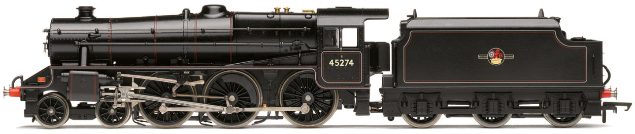 Hornby R3453 Class 5MT 'Black 5' 4-6-0 45274 BR Lined Black with late crest