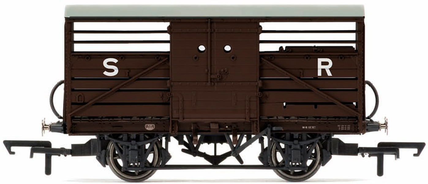 Hornby R6827A SR Dia 1530 Cattle Wagon 53768 SR Brown