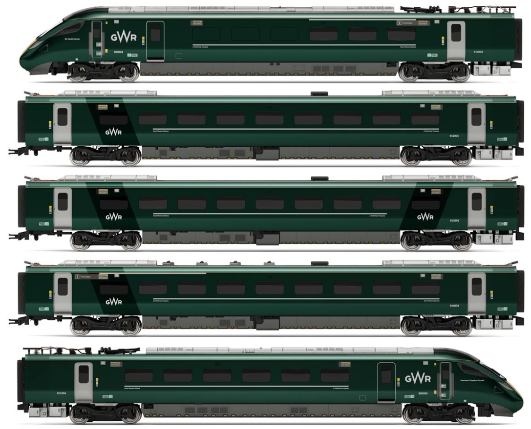 Hornby R3514 Hitachi IEP Bi-Mode Class 800/0 GWR Five Car Train Pack