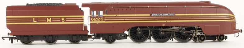 "Hornby R2179 Streamlined Coronation Class 4-6-2 6225 ""Duchess of Gloucester"" LMS maroon"