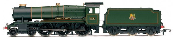 Hornby R3279 County Class 4-6-0 1016 'County of Hants' BR Lined Green with early crest - Railroad