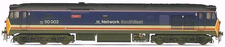 "Hornby R2429 Class 50 diesel 50002 ""Superb"" Network SouthEast (weathered)"