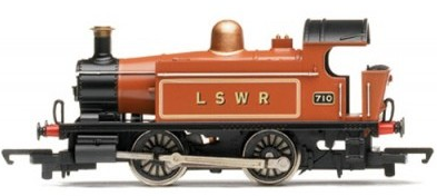 Hornby R2451 0-4-0T 710 LSWR lined brown