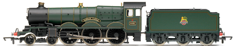 "Hornby R2543 Castle Class 4-6-0 4081 ""Warwick Castle"" BR Green with early crest"