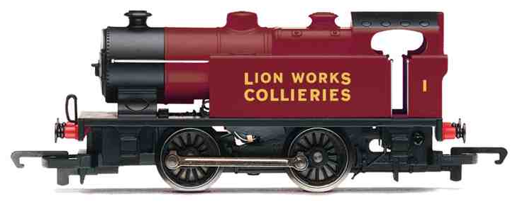 Hornby R2452 Class D 0-4-0T No.1 'Lion Works Collieries' maroon