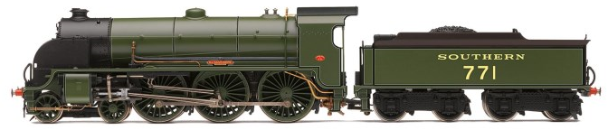 "Hornby R3010 Class N15 King Arthur SR E771 ""Sir Sagramore"" Southern Maunsell Green"