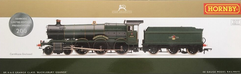 Hornby R3298 Grange Class 4-6-0 'Bucklebury Grange' BR Green with late crest - Harrods Special Pack