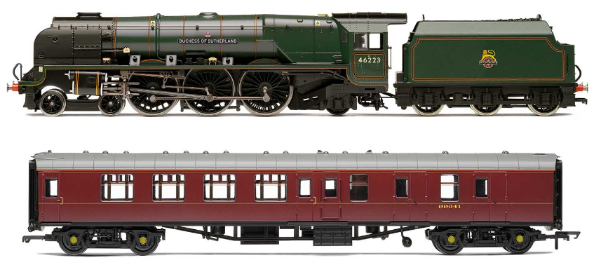 Hornby R3221 BR 'Duchess of Sutherland' and Support Coach Train Pack