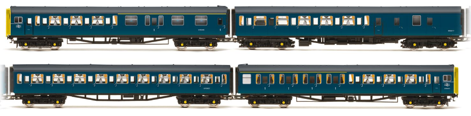 Hornby R2946 Class 423 VEP 4 car EMU BR Blue with full yellow ends